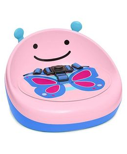 Skip Hop Zoo Booster Seat Butterfly Print - Light Pink