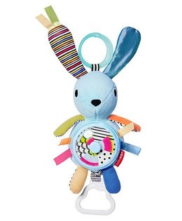 Skip Hop Vibrant Village Spinner Activity Bunny Soft Toy - Multi Colour