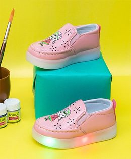 Little Maira Slip-on Led Shoes - Pink