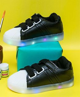 Little Maira Double Velcro Led Shoes - Black