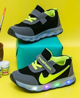 Little Maira Lace Led Sneakers - Neon Yellow