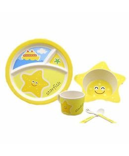 Ez Life Twinkle Star Kids Dining Set Of 5 - Yellow