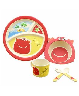 Ez Life Crab Kids Dining Set Of 5 - Red