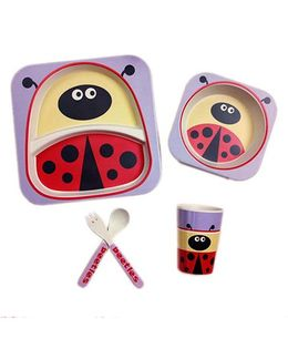 Ez Life Ladybug Dining Set 5 Pieces - Red
