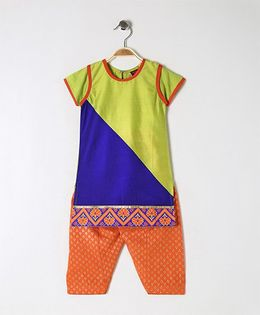 Twisha Traditional Kurta With Salwar - Multicolor