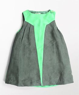 MilkTeeth Star Design Dress - Green