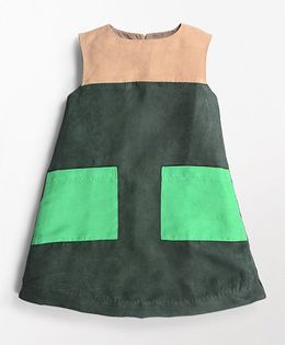 MilkTeeth Rubix Design Dress - Dark Green
