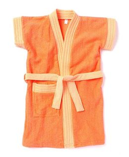 Pebbles Half Sleeves Bathrobe - Light Orange