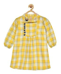 Pspeaches Plaid Dress - Yelllow