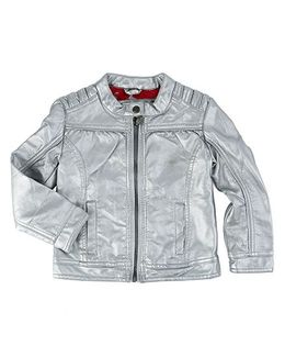 One Friday Zipper Full Sleeve Jacket - Silver