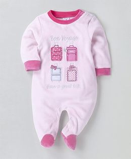 Wonderchild Full Sleeves Footie -  White & Pink