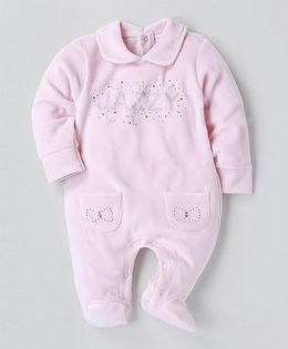 Wonderchild Full Sleeves Jazzy Footie - Pink