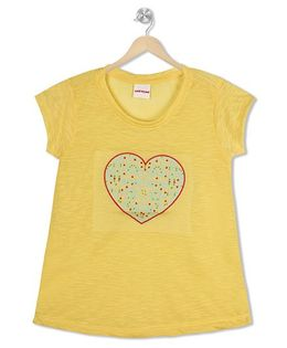 Raine And Jaine Heart Patch Top - Yellow