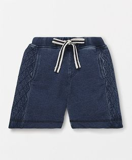Holy Brats Quilted Washed Shorts - Washed Blue