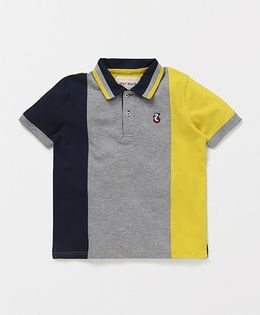 Holy Brats Tricolor Polo Tee - Multi Color