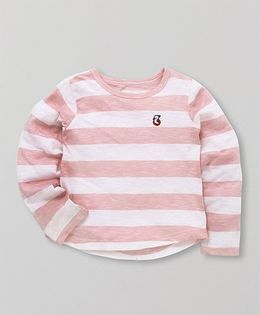 Holy Brats Striped Top - Pink & White