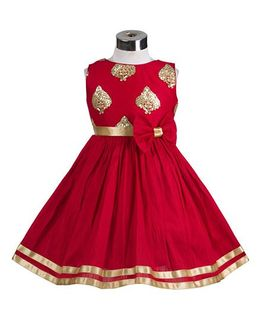 The KidShop Royal Persian Design Dress - Red