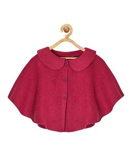 Pspeaches Peter Pan Collar Front Open Jacket - Magenta