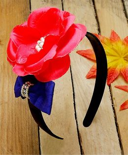 D'chica Chic Flower Hairband - Red