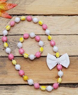 D'chica Pastel Beads Jewelry Set - Multicolor
