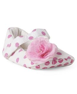 Ivee Polka Dot Anti Skid Soft Sole Booties - Pink
