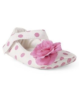 Ivee Polka Dot Anti Skid Soft Sole Booties - Rani Pink
