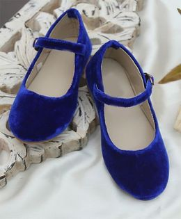 D'chica Royal Chic Mary Janes - Royal Blue