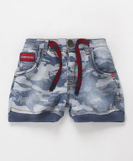 Little Kangaroos Casual Shorts With Drawstring - Light Blue