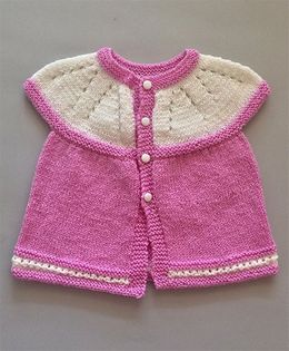 Buttercup From KnittingNani Smart Sweater - Lavender & White