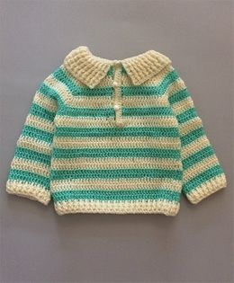 Buttercup From Knittingnani Collared Sweater - Pista Green