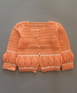 Buttercup From Knittingnani Leaf Pattern Sweater - Peach