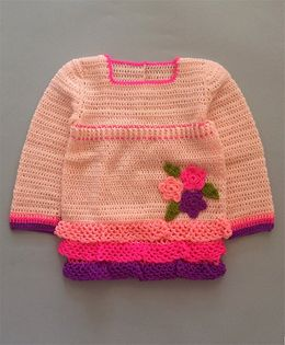 Buttercup From Knittingnani Floral Patch Sweater - Pink