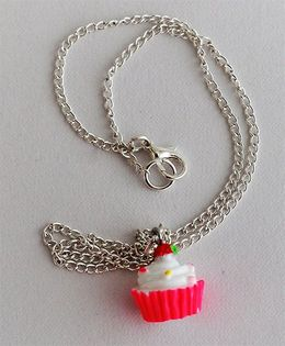 Bobbles & Scallops Cupcake Necklace - Pink