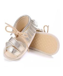 Wow Kiddos Sandal Booties With Tassels - Golden