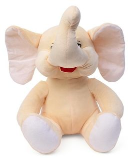 Funzoo Baby Elephant Soft Toy Cream & White - 30 cm