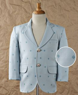 Robo Fry Full Sleeves Party Wear Blazer - Light Blue