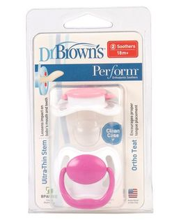 Dr. Brown's Perform Orthodontic Soothers Pink - Pack Of 2