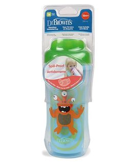 Dr. Brown's Spoutless Insulated Cup Green Blue - 300 ml