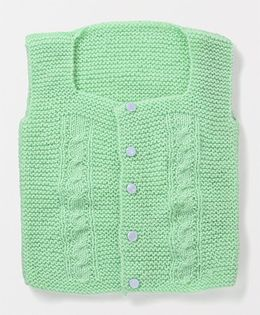 Mayra Knits Cute Vest - Mint