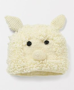 Mayra Knits Teddy Cap - Cream
