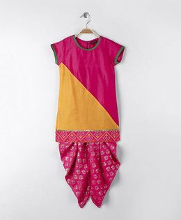 Twisha Kurta With Dhoti Pants - Pink