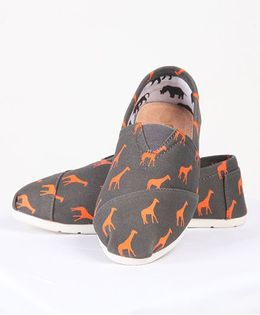 One Friday Printed Canvas Shoes - Brown
