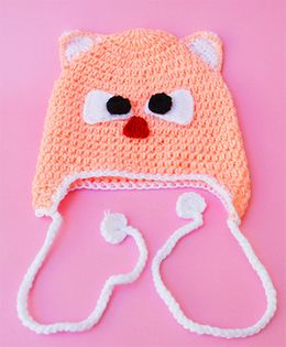 Love Crochet Art Crochet Baby Cap - Peach