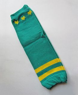 Milonee Knee Length Pair Of Legwarmers - Green