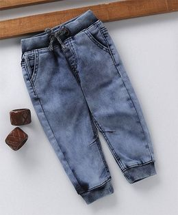 Fox Baby Denim Full Length Joggers Jeans - Blue