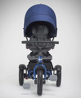 Bentley Tricycle With Canopy & Parent Push Handle - Sequin Blue