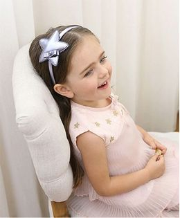 Little Miss Cuttie Star Design Hairband - Purple