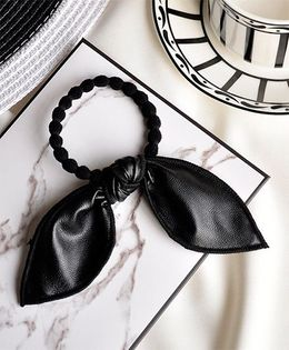 Little Miss Cuttie  Knot Design Hair Tie - Black