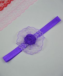 Little Miss Cuttie  Cute Elastic Headband - Purple