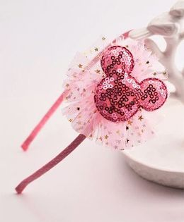 Little Miss Cuttie  Sequence Cartoon Hairband - Pink